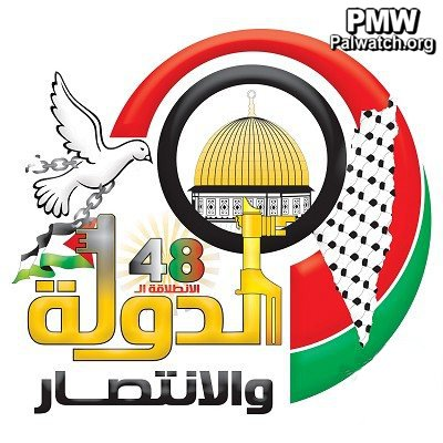 The official Palestinian Authority daily published a picture of the official logo chosen by Fatah for celebrations marking the movement's 48th anniversary. The logo features various symbols, including a map of