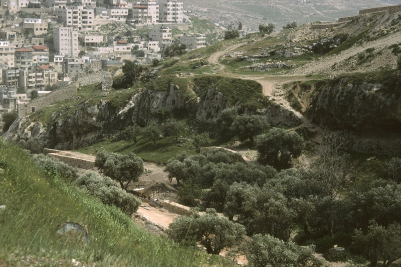 The Ben Hinnom Valley, Jerusalem - looks nice now but in Bible times it was Gei Hinnom, a place of such awful things that Yeshua used it as a picture of Hell. (Gehenna when rendered into Greek)