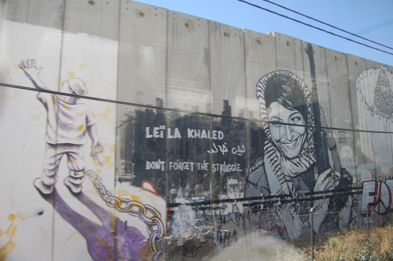 Palestinian wall art in Bethlehem. Pursuing the ficticious struggle for legal rights to the land