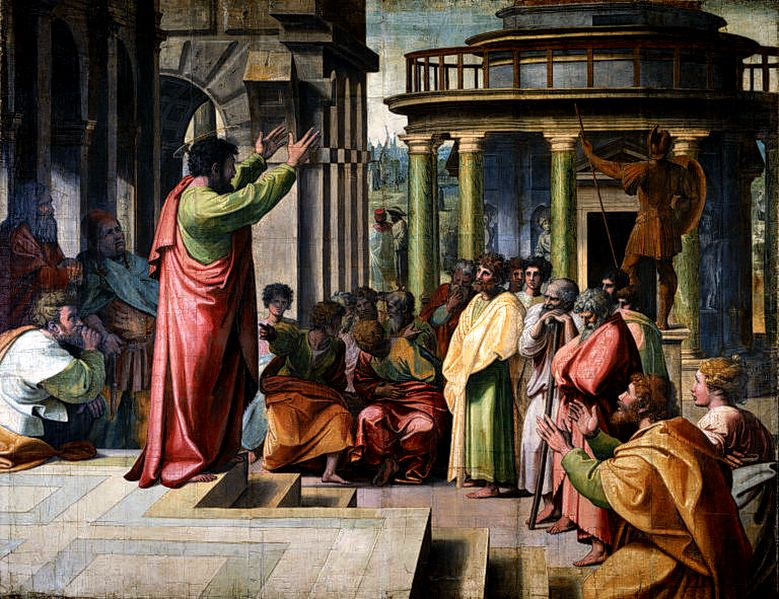 St Paul preaching in Athens by Raphael (1515) - Victoria and Albert Museum UK