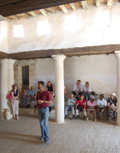 This is a reconstructed first century synagogue in Nazareth Village.