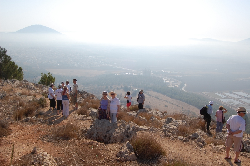 On Mount Precipice, Nazareth, with Mount Tabor in the background