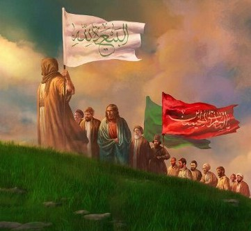 Islamic end of days.  The Mahdi with Jesus following behind among Islam's prophets.