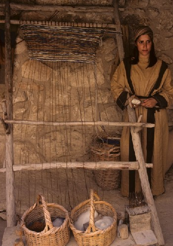 Weaving in the Nazareth Village museum
