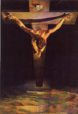 """Christ of St John of the Cross"" (part)  Salvador Dali   (c)"