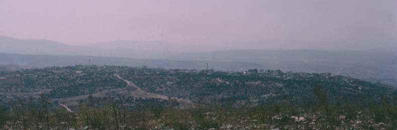 Jenin   seen from Mt Gilboa after is was alleged to have been flattened